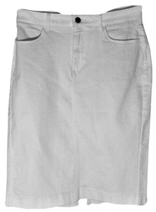 Uniqlo Denim Jean Pockets Skirt White