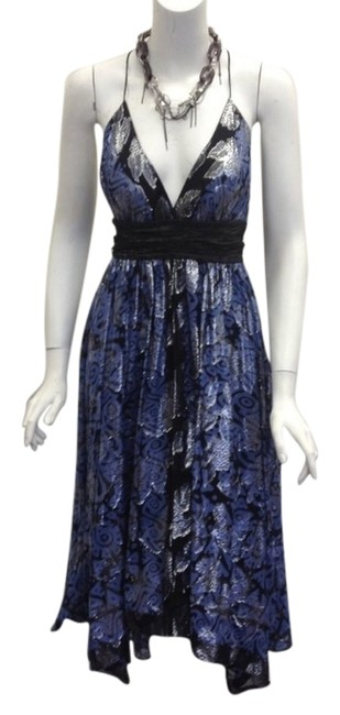 Preload https://img-static.tradesy.com/item/3671428/nicole-miller-black-blue-and-metallic-collection-high-low-formal-dress-size-6-s-0-0-650-650.jpg