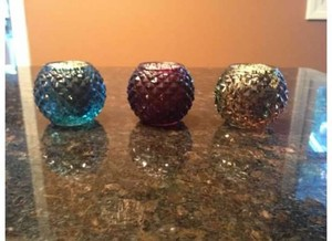 Green Purple Teal 65 Assorted Colored Votive/Candle