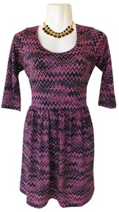 BeBop short dress pink, black Pink Purple Chevron on Tradesy