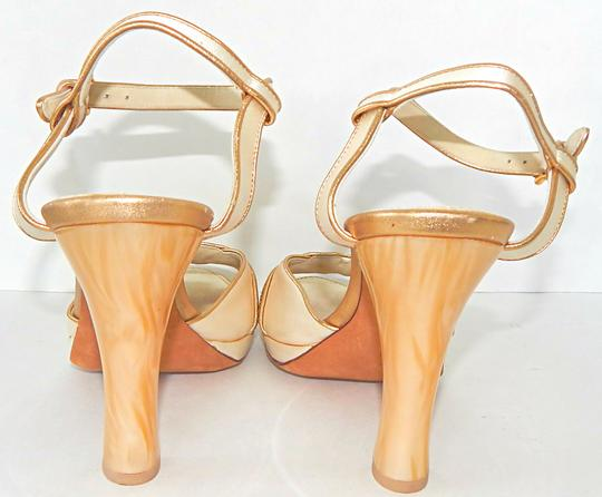 Louis Vuitton Ankle Strap Satin Limited Resin Suede Cream Sandals