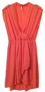 Hello Miss short dress Coral Flowy Summer V-neck Chiffon Party on Tradesy