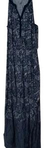 navy blue and white Maxi Dress by Old Navy