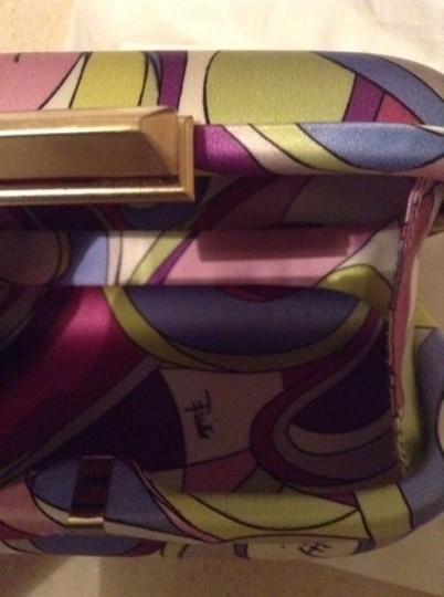Emilio Pucci Pink, Light Green, Purple, White Clutch