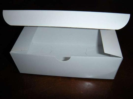 Unused Treat/ Favor Boxes Glossy White