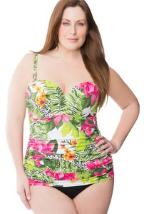 Lane Bryant Lane Bryant NWOT Tropical Floral Maillot Swimsuit