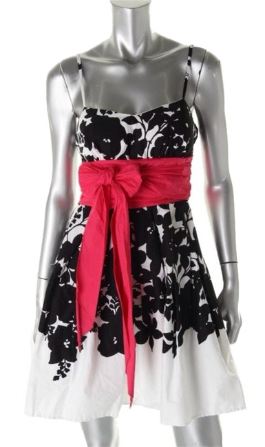 B. Darlin short dress Black White Red on Tradesy