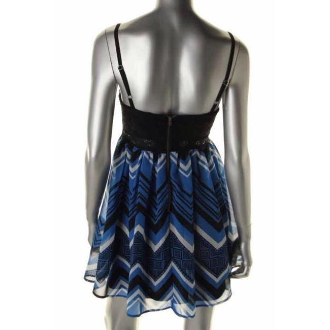 Material Girl short dress Black And Blue on Tradesy