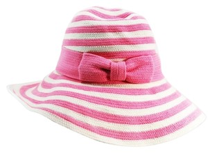 Kate Spade Kate Spade New York Pink and White Ribbon Crocheted Sun Hat NEW