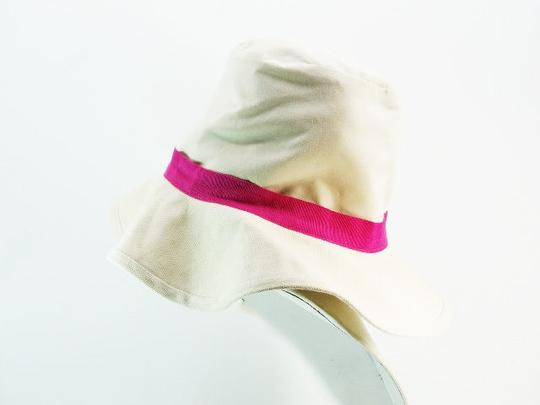Kate Spade Kate Spade New York Classy White Pink Accent Bucket Sun Hat NEW