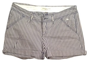 Abercrombie & Fitch Shorts Blue And White Stripe