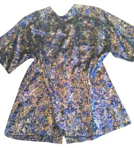 Ellen Tracy Top brown and purple