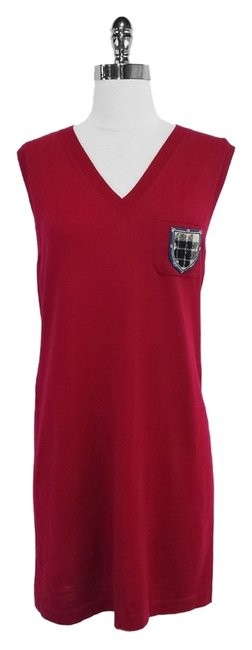 Preload https://item2.tradesy.com/images/chanel-red-wool-sleeveless-sweater-mid-length-short-casual-dress-size-8-m-3674446-0-0.jpg?width=400&height=650
