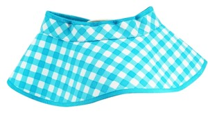 Kate Spade Kate Spade New York Checkered Blue Sun Visor Hat NEW