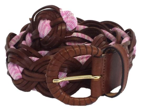 Preload https://item1.tradesy.com/images/missoni-brown-and-pink-woven-leather-belt-3674605-0-0.jpg?width=440&height=440