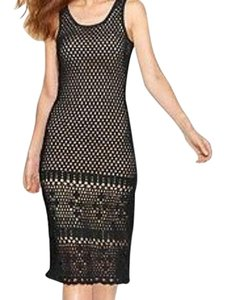 Black Maxi Dress by Michael Kors Crochet Party Sweater