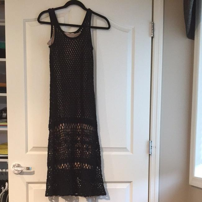 Black Maxi Dress by Michael Kors Crochet Party Sweater Sleeveless Fitted