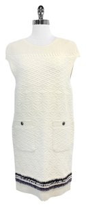 Chanel short dress Ivory Cashmere Cap Sleeve on Tradesy