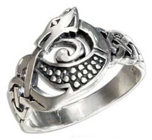 Other STERLING SILVER CELTIC DRAGON RING