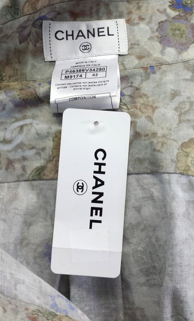 Chanel Floral Cotton Button Top