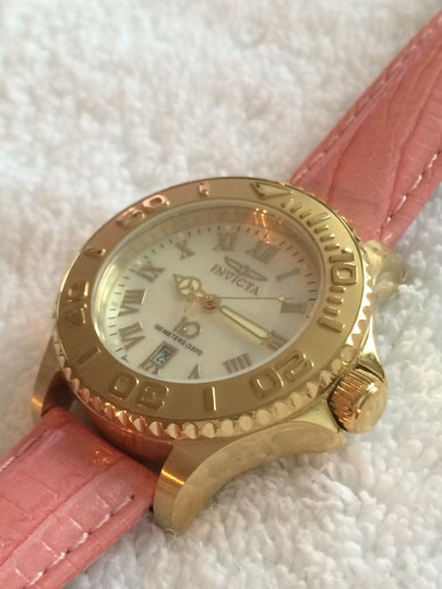 Invicta Women's Invicta Goldtone Chronograph Lupah Wildflower Watch with 9 LEATHER Interchangeable Straps Style #4397