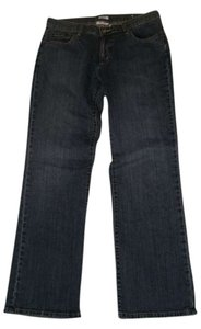Liz & Co. Straight Leg Jeans-Medium Wash