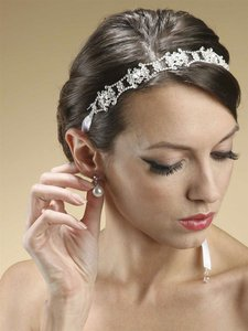 Mariell Swarovski Crystal Bridal Headband Or Belt With Ribbon 3324hb