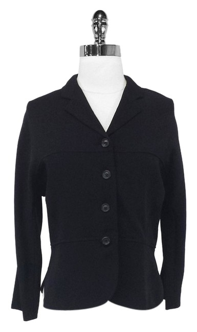 Piazza Sempione Wool Silk Lightweight Black Blazer