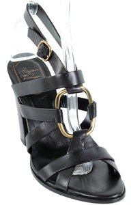 Roger Vivier Strappy Cut-out Party Leather Black Sandals
