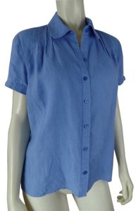 Talbots Irish Linen Top Lavendar