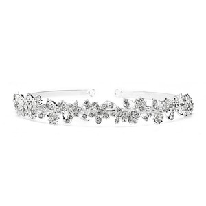 Mariell Sculpted Floral Garland Crystal Headband Or Tiara 4219hb