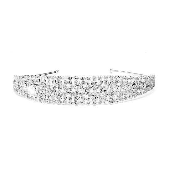 Preload https://item1.tradesy.com/images/mariell-silver-shimmering-rhinestone-bold-headband-for-or-proms-4232hb-hair-accessory-3675805-0-0.jpg?width=440&height=440