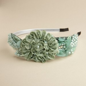 Mariell Mint Side Design Couture Headband In 3459hb-mt Hair Accessory