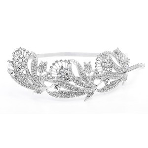 Mariell Breathtaking Art Nouveau Bridal Headband 3570hb