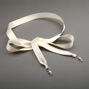 Mariell Ivory Satin Ribbon Headband For Diy Bridal Or Prom Hair Accessory 3916hb