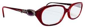 Judith Leiber Judith Leiber Ruby Radiance Eyeglasses With Silk Case