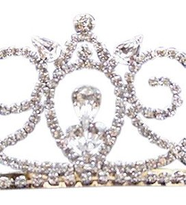 Cathy's Concepts Silver Clear Rhinestone Prom or Quinceanera Tiara