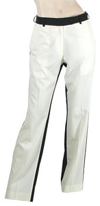 Preen by Thornton Bregazzi Two-tone Color-blocking Straight Pants Black, White