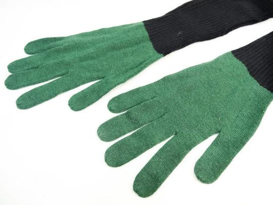Kate Spade Kate Spade Saturday Green Black Knit Hand Gloves NEW