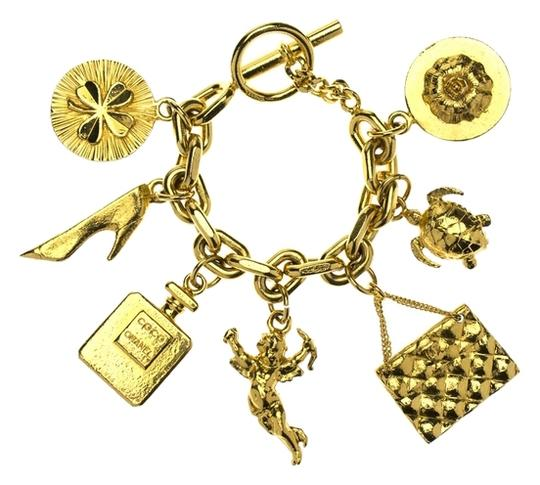 Chanel Chanel Vintage Lucky 7 Charm Bracelet