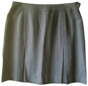 Jones New York Wool Skirt Navy Blue