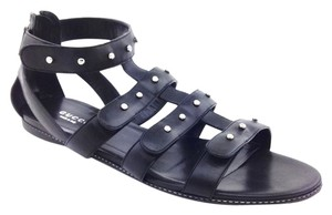 Gucci Leather Studded Strappy Black Sandals
