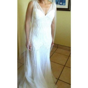 Pronovias Shades Of Ivory Organza Ugena Sexy Wedding Dress Size 6 (S)