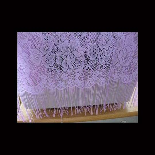 Mariell Lilac Knitted Floral Wrap/Shawl
