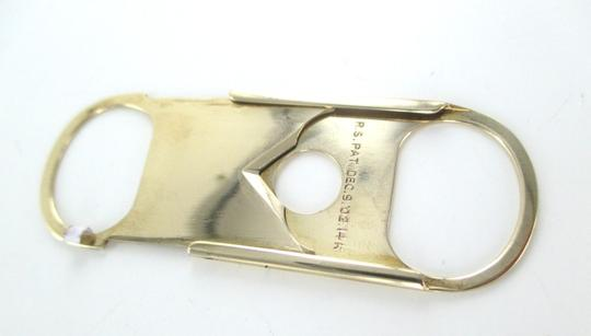 Other 14KT SOLID YELLOW GOLD CIGAR CIGARETTE CUTTER TOBACCO THIN R.S PAT DEC 02