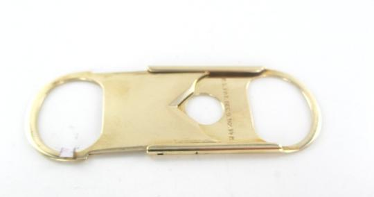 Other 14KT SOLID YELLOW GOLD CIGAR CIGARETTE CUTTER TOBACCO THIN R.S PAT DEC 02 Image 2