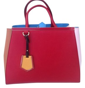 Fendi Satchel in RED/BLUE/OFF WHITE/LARGE
