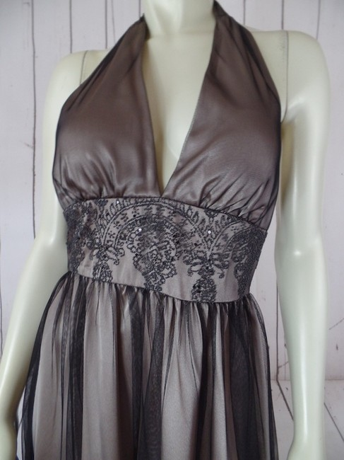 Adrianna Papell Petite 4p Halter Sequins Beads Padded Pra Polyester Dress Image 1