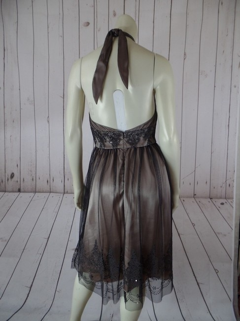 Adrianna Papell Petite 4p Halter Sequins Beads Padded Pra Polyester Dress Image 2