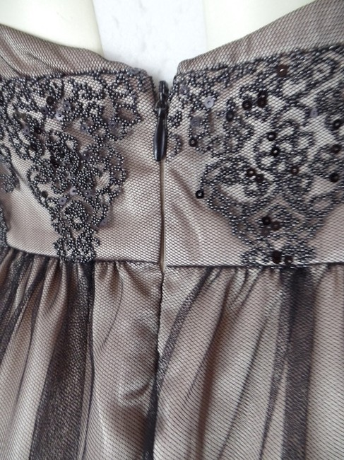 Adrianna Papell Petite 4p Halter Sequins Beads Padded Pra Polyester Dress Image 3
